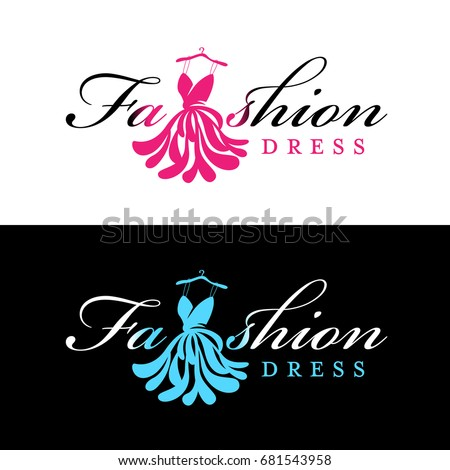pink and blue fashion dress