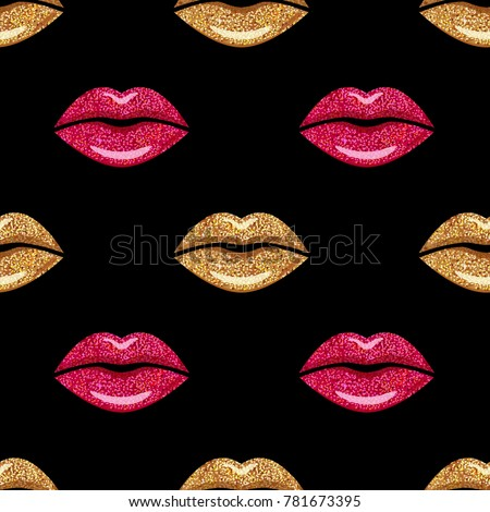 pink and gold shimmer lipstick