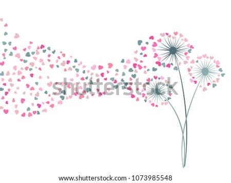 Pink Dandelions Vectors Download Free Vector Art Stock Graphics