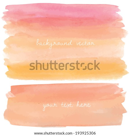 pink and orange watercolor