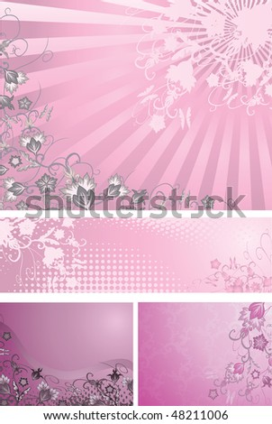 Pink and purple backgrounds collection