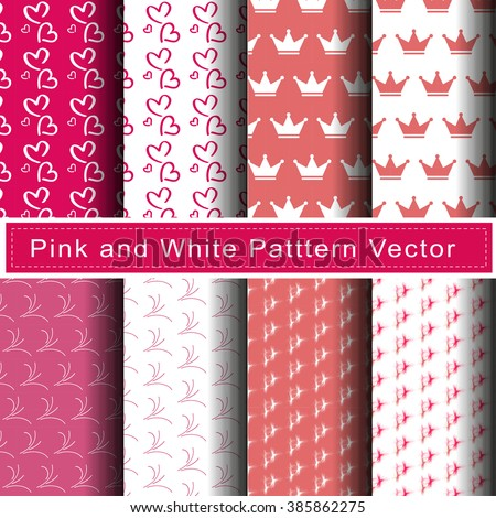 pink and white pattern vector
