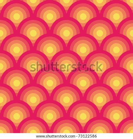 Pink and yellow seamless geometric pattern (vector)