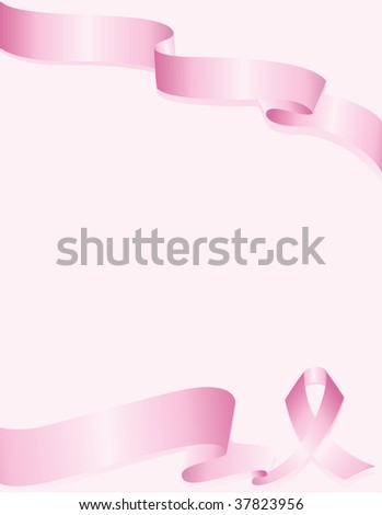 Pink Awareness ribbon background for breast cancer