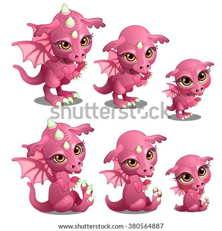 pink baby dragon animated