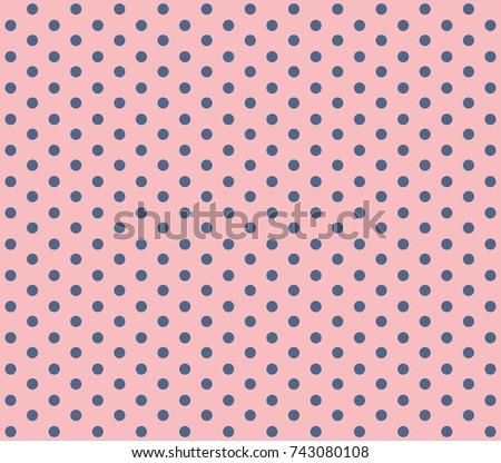 Pink background polka dot. Vector polka dot on pink background. Vector polka dot.