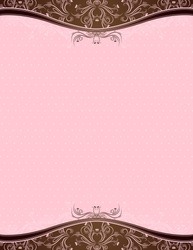 pink background with decorative ornaments, vector illustration