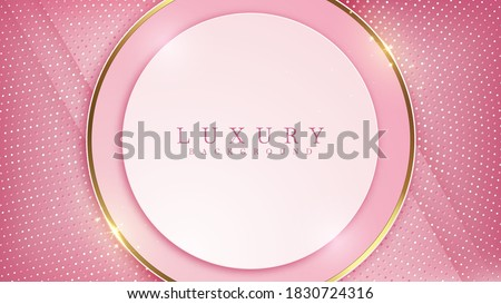 Pink background with glittering gold lines, luxury backdrop, modern concept. Illustration from vector about modern template deluxe design. Stock photo ©