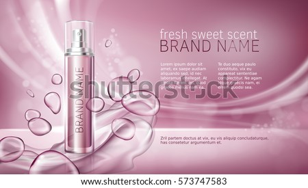 Pink background with moisturizing cosmetic premium products