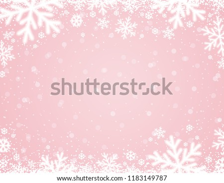 snowflakes pink vector background download free vector art stock