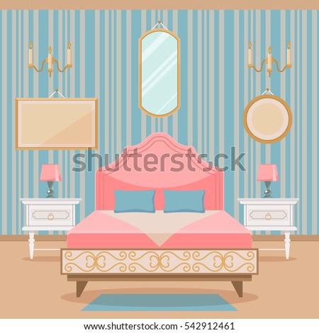 pink bedroom interior with