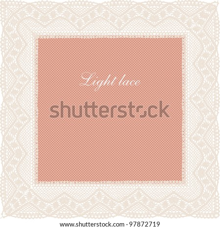 Pink-beige pale lace background