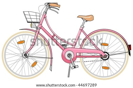 pink bicycle for woman