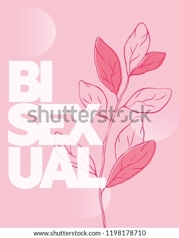 Stock Photo Pink Bisexual poster
