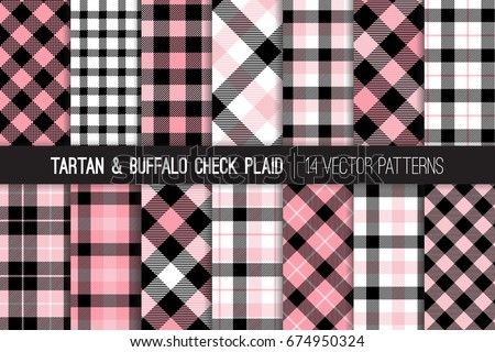 pink  black and white tartan