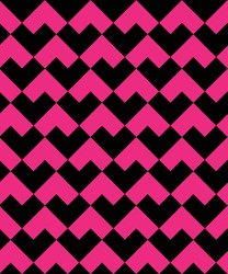 Pink black square heart repeating pattern