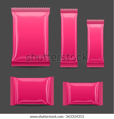 pink blank foil food snack pack