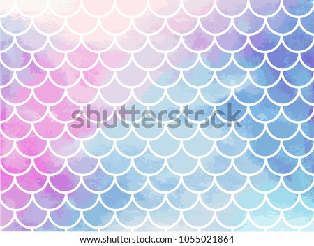 pink blue mermaid scales