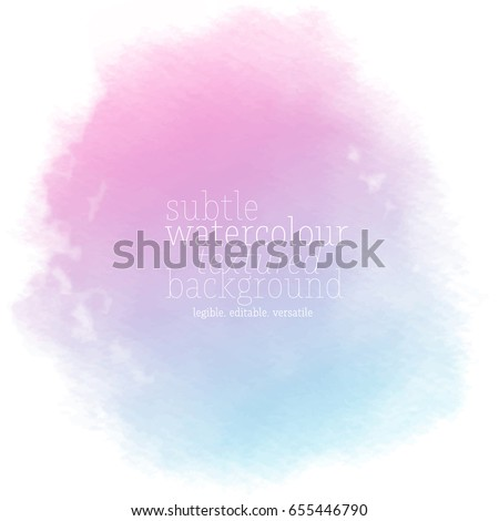 pink blue watercolor