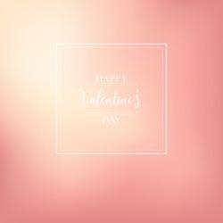 Pink Bokeh Heart Valentine Background