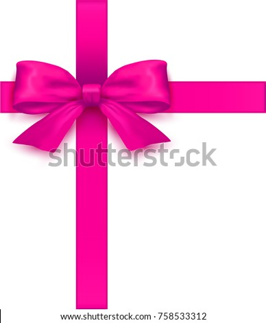 Pink Bow .Vector