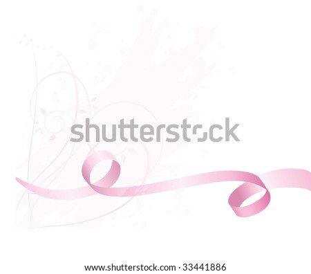Pink Breast Cancer Awareness Ribbon Background