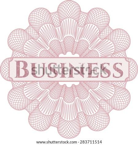 Pink Business rosette
