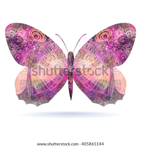 pink butterfly abstract