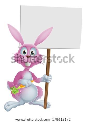 pink cartoon bunny rabbit