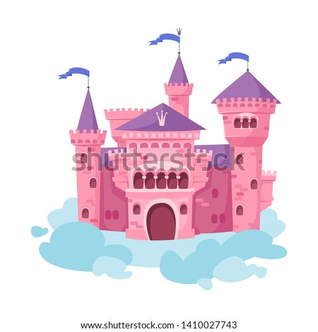 pink castle in the sky standing
