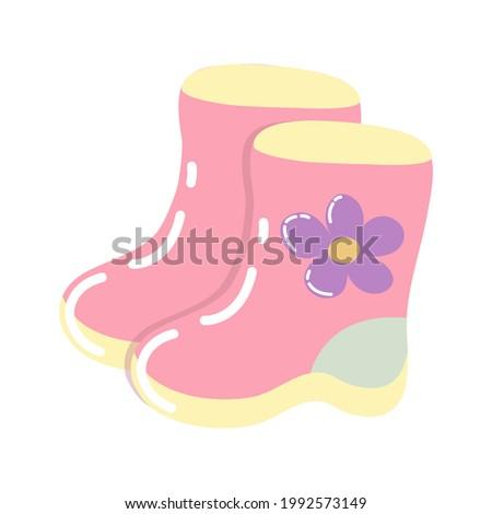 pink children's rubber boots