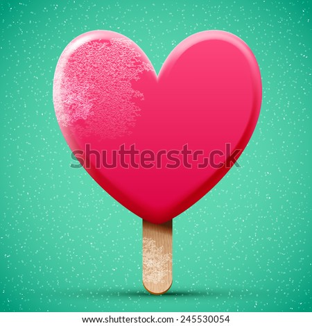 pink chocolate heart shaped