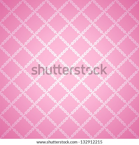 Pink cloth texture background. Vector illustration for your lovely design. Book cover. Fabric bright romantic canvas wallpaper with delicate striped pattern.