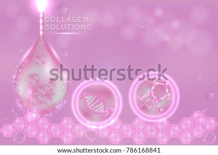 pink collagen serum drop