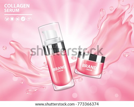 pink collagen vitamin skin care