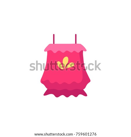 pink colored sleeveless flounce