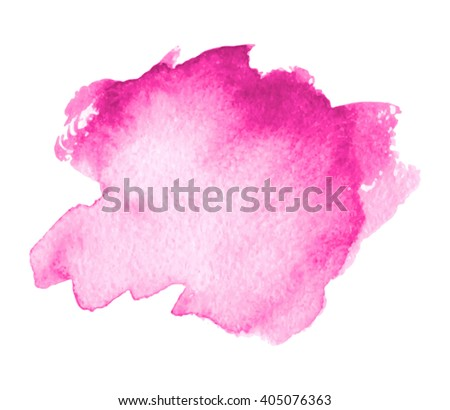 Hand drawn colorful soft watercolor splash vector background