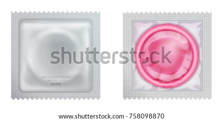 pink condom with packing set