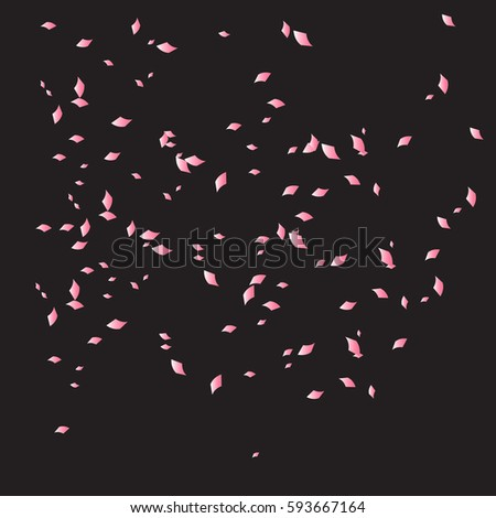 Pink confetti background. Many falling tiny confetti pieces.Illustration vector eps10