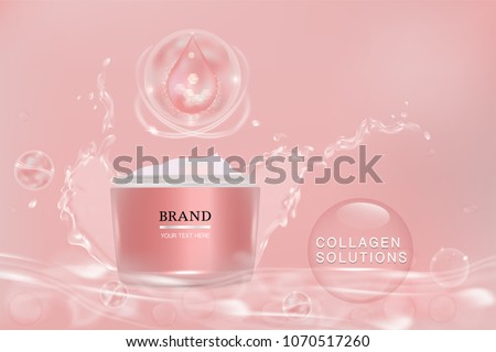 pink cosmetic container with