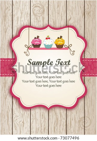 pink cupcake invitation