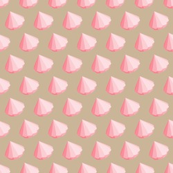 Pink cupcakes background. Cute seamless pattern.