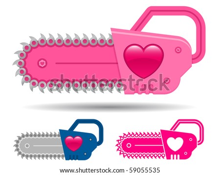 pink cute chainsaw set with