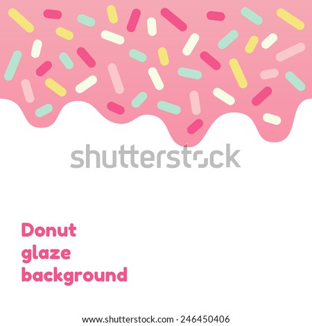 pink donut glaze background