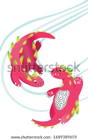Pink Dragons ispired by dragon fruit