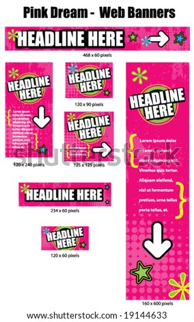 Pink Dream Series - Web Banners. See gallery for more pieces.