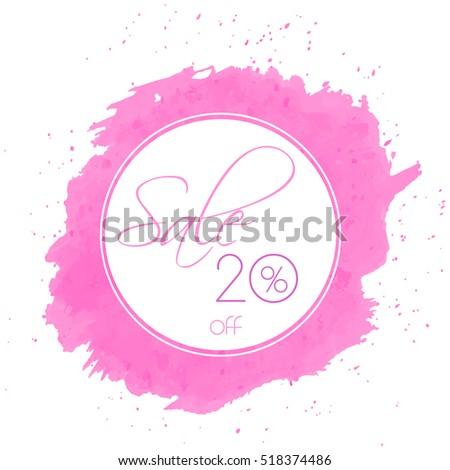 pink elegance sale banner in