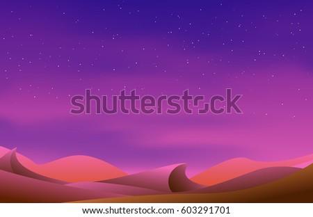 pink fairy desert landscape
