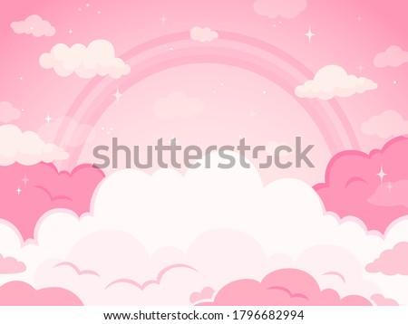 pink fairytale sky background