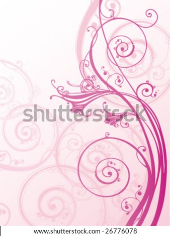 stock vector : Pink floral background